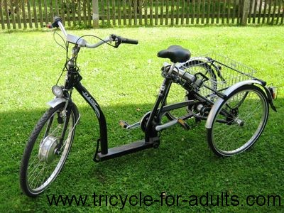 Electric tricycle Peacock Schachner E-Tec Drive